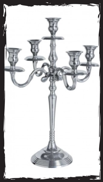 Kerzenleuchter 5-Arm Silber
