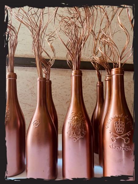 Deko-Weinflasche Kupfer