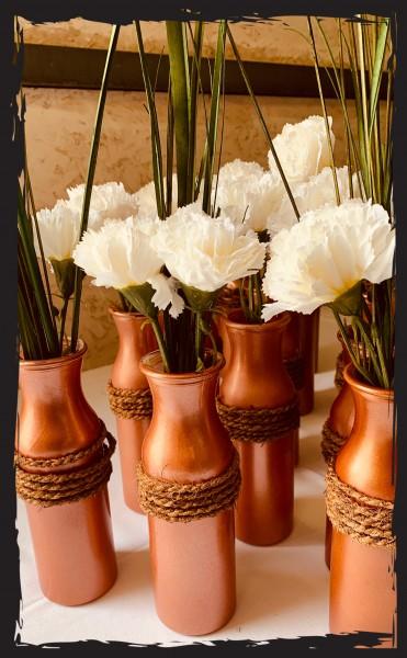 Deko-Vase Kupfer gross